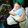 Don Knight |  The Herald Bulletin<br /> Beth Stamper with the Salvation Army of Henry County gets a hug from Lamar Graves, 6, after delivering presents to the Graves home on Wednesday.  Hoosiers with Hearts and the Salvation Army of Henry County decided to help the family after hearing about their presents being stolen on Christmas Eve.