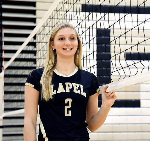 John P. Cleary   The Herald Bulletin<br /> Isabel Anderson of Lapel High School is the Volleyball Player of the Year.