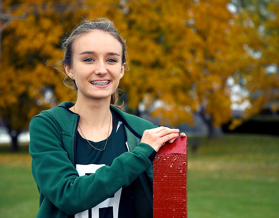 John P. Cleary | The Herald Bulletin<br /> Katie Jones of Pendleton Hts HS, THB's Girls Cross Country athlete of the Year.