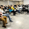 Don Knight | The Herald Bulletin<br /> Knightstown, Muncie and Anderson Robotics teams learn about their challenge for this year's competition at Purdue Polytechnic on Saturday. The teams have six weeks to build their robots.