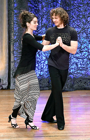 John P. Cleary   The Herald Bulletin<br /> Austin Ashby and Natasha Cox rehearsing at the Paramount Theatre for Dancing Like the Stars.