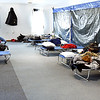 John P. Cleary | The Herald Bulletin<br /> Main Street Church of God opened up their Fellowship Hall as a 24 hour warming center Tuesday with a place to sleep and meals for people that needed shelter from the extreme cold. Wednesday morning there were eight people staying at the church.