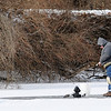 Don Knight | The Herald Bulletin<br /> An angler tries his luck on the ice at Shadyside Lake ahead of a polar vortex on Tuesday. Extreme cold is forecast to arrive Tuesday night and last into Thursday.