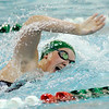 Don Knight | The Herald Bulletin<br /> Pendleton Heights Karly Riffey swims in the girls 100 freestyle as the Arabians hosted Mt. Vernon on Thursday.