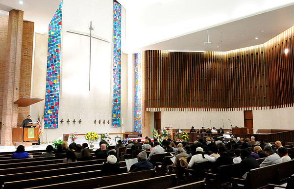 Don Knight | The Herald Bulletin The funeral for Johnny Wilson was held at the First United Methodist Church in Anderson on Saturday.