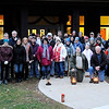 Don Knight   The Herald Bulletin<br /> A large group turned out for a First Day Hike at Mounds State Park on Tuesday.