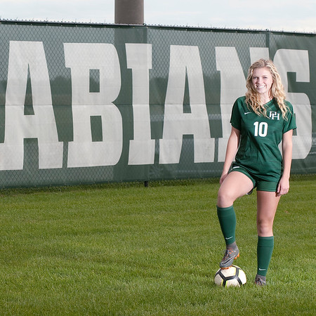 Don Knight | The Herald Bulletin<br /> Soccer players of the year Pendleton Heights Ethan Hunt and Taylor Fort