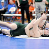 Don Knight | The Herald Bulletin<br /> Alexandria's Max Naselroad pins Pendleton Heights' Jace Longere to win the 132 pound title during the wrestling sectional at Elwood on Saturday.