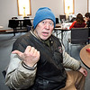 John P. Cleary | The Herald Bulletin<br /> Dave Pettigrew spent Tuesday night at the Main Street Church of God warming center. Pettigrew lives in rural Madison County but decided that staying at the farm by himself in this extreme cold would be a bad risk.