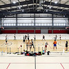 John P. Cleary | The Herald Bulletin<br /> Ben Gibbs conducts his Winter Skills Camp for youth at the Youth Center field house Wednesday.