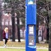 John P. Cleary | The Herald Bulletin<br /> Emergency call boxes on the Anderson University campus.
