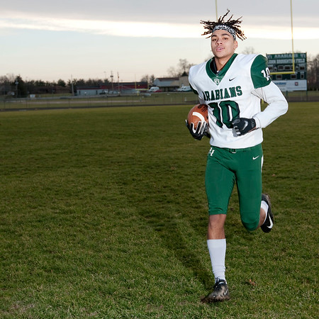Don Knight   The Herald Bulletin<br /> Offensive football player of the year Eli Pancol