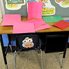 Don Knight | The Herald Bulletin<br /> A memorial desk for Jayzon Blackwell's sits in the corner of his classroom at APA.