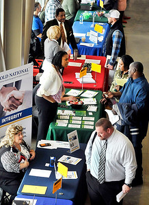 John P. Cleary | The Herald Bulletin Approximately 60 companies and businesses took part in the Hire Anderson Job Fair Friday at Purdue Polytechnic.