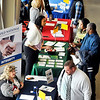 John P. Cleary | The Herald Bulletin<br /> Approximately 60 companies and businesses took part in the Hire Anderson Job Fair Friday at Purdue Polytechnic.