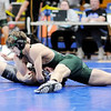 Don Knight | The Herald Bulletin<br /> Pendleton Heights' Jared Brown wrestles Noblesville's Dalton Huffman to win the 126 pound title during the wrestling sectional at Elwood on Saturday.