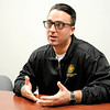 Don Knight | The Herald Bulletin<br /> Firefighter and union president Cody Leever talks about changing attitudes in the fire department towards PTSD and caring for first responders mental health.