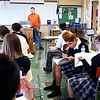John P. Cleary | The Herald Bulletin<br /> Jeff Brunnemer conducts his Senior Government class at Anderson Preparatory Academy.