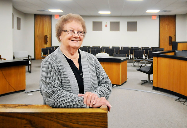 John P. Cleary   The Herald Bulletin<br /> Nellie Elston, 82, shown here in Madison County Circuit Court Division 2, has worked as a case worker for the Indiana Department of Child Services for 42 years and 11 years as a Court Appointed Child Advocate (CASA) volunteer in Madison County.