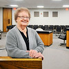 John P. Cleary | The Herald Bulletin<br /> Nellie Elston, 82, shown here in Madison County Circuit Court Division 2, has worked as a case worker for the Indiana Department of Child Services for 42 years and 11 years as a Court Appointed Child Advocate (CASA) volunteer in Madison County.