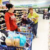 Don Knight | The Herald Bulletin<br /> From left, Katie York shops with her daughter Elana, 4, and grandmother Ruth Woodring at Meijer on Wednesday. The weekend forecast is calling for another winter storm but this one will include high winds and drifting snow.