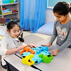 Don Knight | The Herald Bulletin<br /> From left, Guadalupe Lemus and Aaliyah Ogburn play a game of Hungry Hippos in the new awards room at Anderson Elementary on Wednesday. The room is a way for the school to reward students for making good decisions. You can read more about the room and how NTN helped make it possible in an upcoming story by education reporter Rebecca Bibbs.
