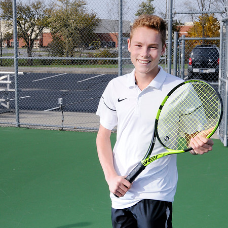 Don Knight   The Herald Bulletin<br /> Tennis player of the year Lapel's Jesse McCurdy.