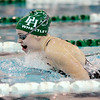 Don Knight | The Herald Bulletin<br /> Pendleton Heights Kaitlyn Wheetley leads the girls 100 breaststroke as the Arabians hosted Mt. Vernon on Thursday.