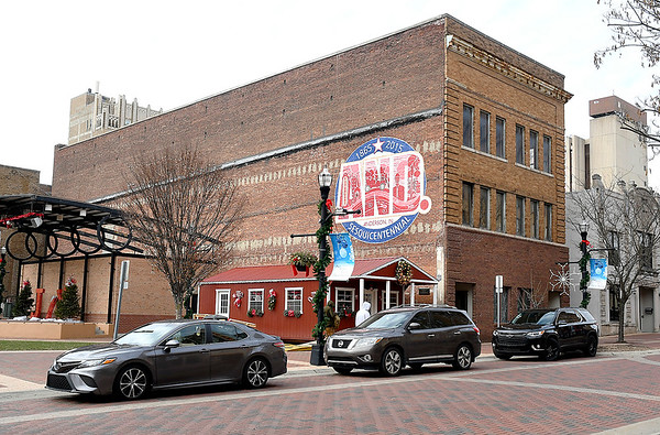 Exterior of the building at 1123 Meridian Street, next to Dickmann Town Center, that the city owns.