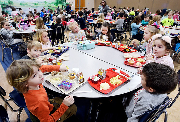 Lunch time at Frankton Elementary School.