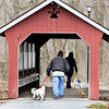 Everyone was bundled up, even the dogs, as these folks took their K-9 companions for a walk around the trails at Shadyside Lake Tuesday afternoon.<br /> The below normal temperatures will start to moderate to go above the norm before more precipitation  moves in late in the week.