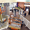 As people come into the main entrance area of the Anderson Public Library they notice the circulation desk is gone and that new construction is taking place in it's former footprint as the remodeling of the main floor of the facility continues in a $2.5 million renovation project.