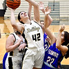 Lapel's Ashlynn Allman gets position under the basket to go up for a shot.