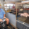 Paralyzed farmer, Mark Hosier, still farming.