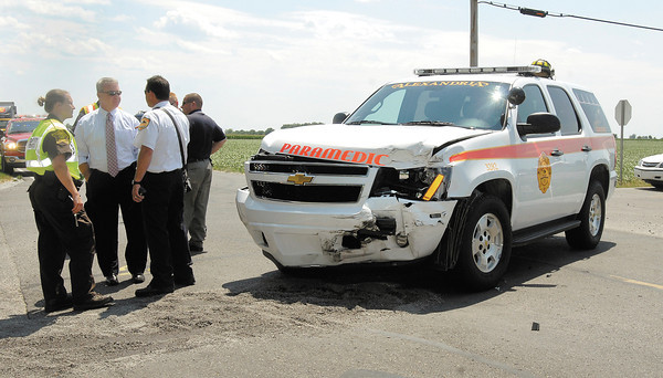An PI accident at 1000N & 100W Tuesday afternoon involved a Alexandria paramedic unit that was on a run to another accident when the collision occurred.