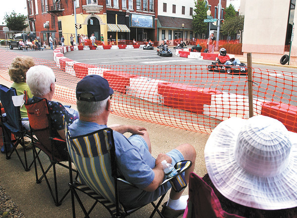 The Alexandria Grand Prix go-kart races were held through the streets of downtown Alexandria Saturday with a full day of racing on tap for Sunday.
