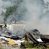 Anderson firefighters were called to the former Philadelphia Quartz facility Tuesday afternoon to extinguish a blaze that started under a pile of scrap metal near the front of the property.  Demolition crews have been working at the site for several months tearing down the buildings.