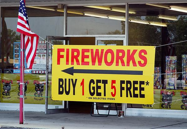 Firework sales around town.