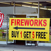 Firework sales around town.