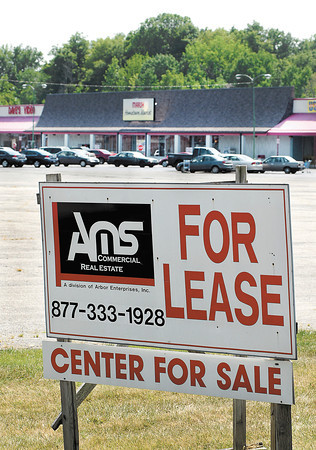 The Southdale Plaza shopping center is for sale.