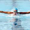 ACAC swimmer Meri Gray, 13, works on her butterfly stroke during practice for the upcoming state championships.