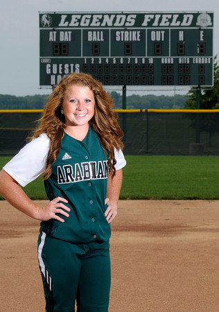 Don Knight/The Herald Bulletin<br /> All Herald Bulletin Softball Pitcher of the year, Pendleton Heights Bailey Benefiel.