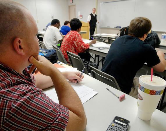 Ivy Tech math class.