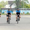 Don Knight/The Herald Bulletin<br /> Increased bike patrols is one way the Elwood Police Department intends to increase their community policing efforts. From left are Cpt. Jamie Crawford, reserve officer Andrew Hannah, patrolman Lucas Traylor and patrolman John Davis.