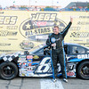 Don Knight/The Herald Bulletin<br /> Trent Snyder celebrates his win in the JEGS/CRA All-Stars Tour 100 lap race at the Anderson Speedway on Friday.