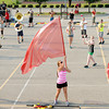 Don Knight/The Herald Bulletin<br /> The Anderson High School marching band practiced in the parking lot Thursday evening. The band will be competing this Saturday in the Muncie Southside High School Spirit of Sound contest.