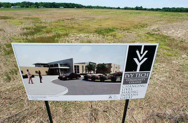 The site of Ivy Tech's new $20 million  Anderson campus along East 60th Street between Main and Columbus is still an open farm field as state funding for the project has not been released by the Indiana State Budget Committee and could be in a holding pattern for the next two years.