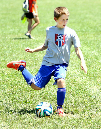 Chris Martin | for The Herald Bulletin<br /> Anderson Universities annual soccer camp concludes with the 4 on 4 tournament