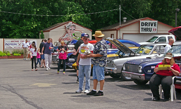 Mark Maynard  | for The Herald Bulletin<br /> The  12th Annual Bill Vaughn Memorial Cruise-In attracted a large variety of classic and custom vehicles to Frisch's on Saturday afternoon.