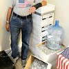 "Don Knight | The Herald Bulletin<br /> Larry VanNess, also known as ""The Can Man,"" is approaching 10 Million tabs collected for the Ronald McDonald House. VanNess says it couldn't of done it himself and is very thankful of everyone in the community that has helped him collect tabs."